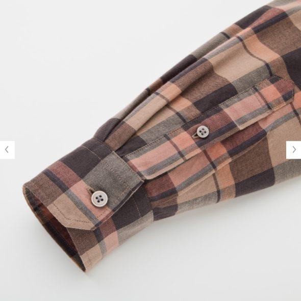 2020秋冬ライトフランネルワイドフィットチェックシャツ②の素材2