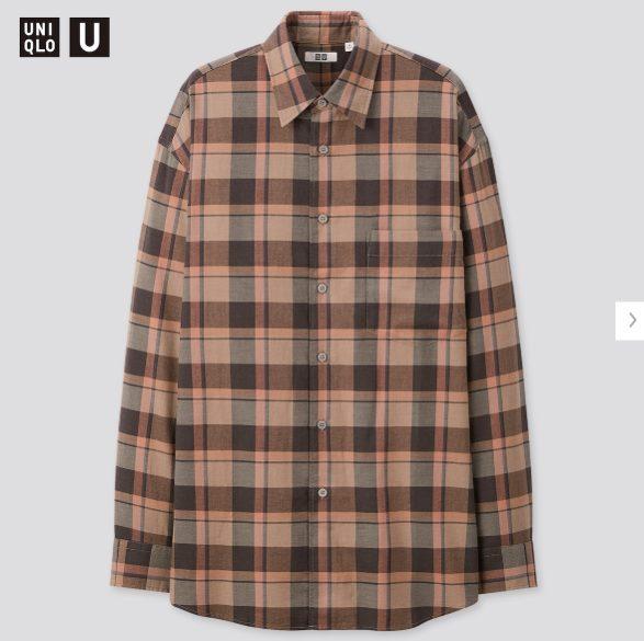 2020秋冬ライトフランネルワイドフィットチェックシャツ②の価格