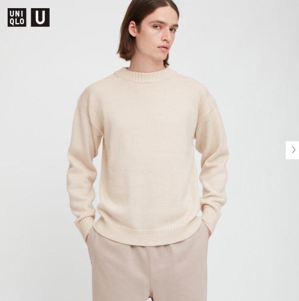 2020秋冬ミドルゲージモックネックセーターのモデル1