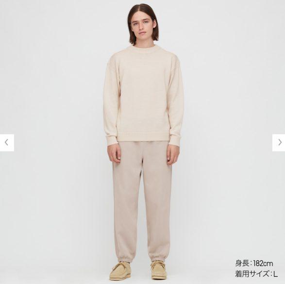 2020秋冬ミドルゲージモックネックセーターのモデル2