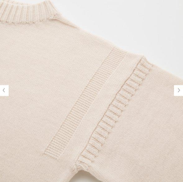 2020秋冬ミドルゲージモックネックセーターの素材1