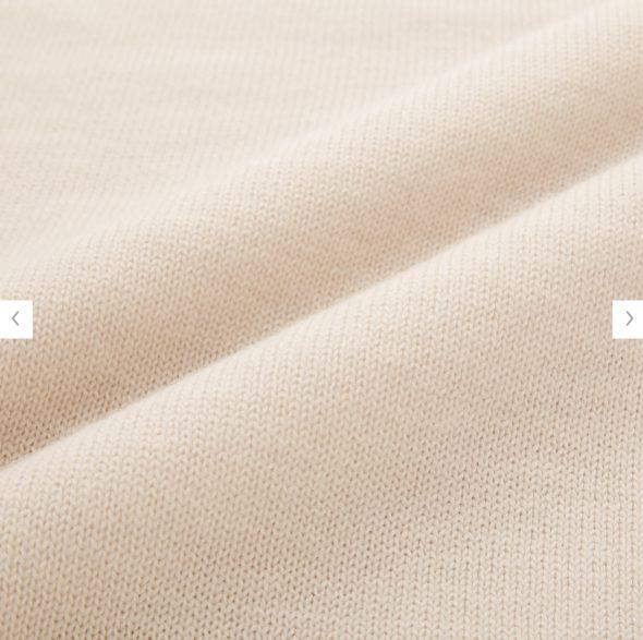 2020秋冬ミドルゲージモックネックセーターの素材2