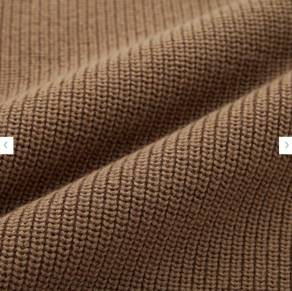 2020秋冬リブタートルネックセーターの素材1