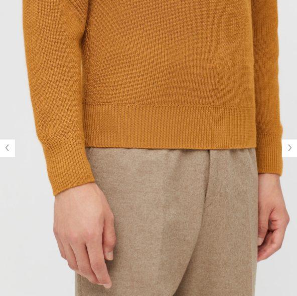2020秋冬リブタートルネックセーターの素材2