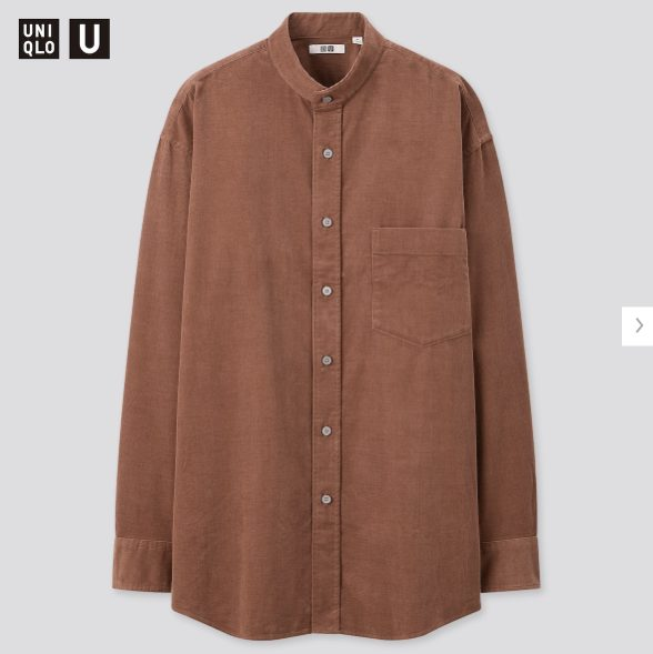 ユニクロUコーデュロイワイドフィットスタンドカラーシャツ価格
