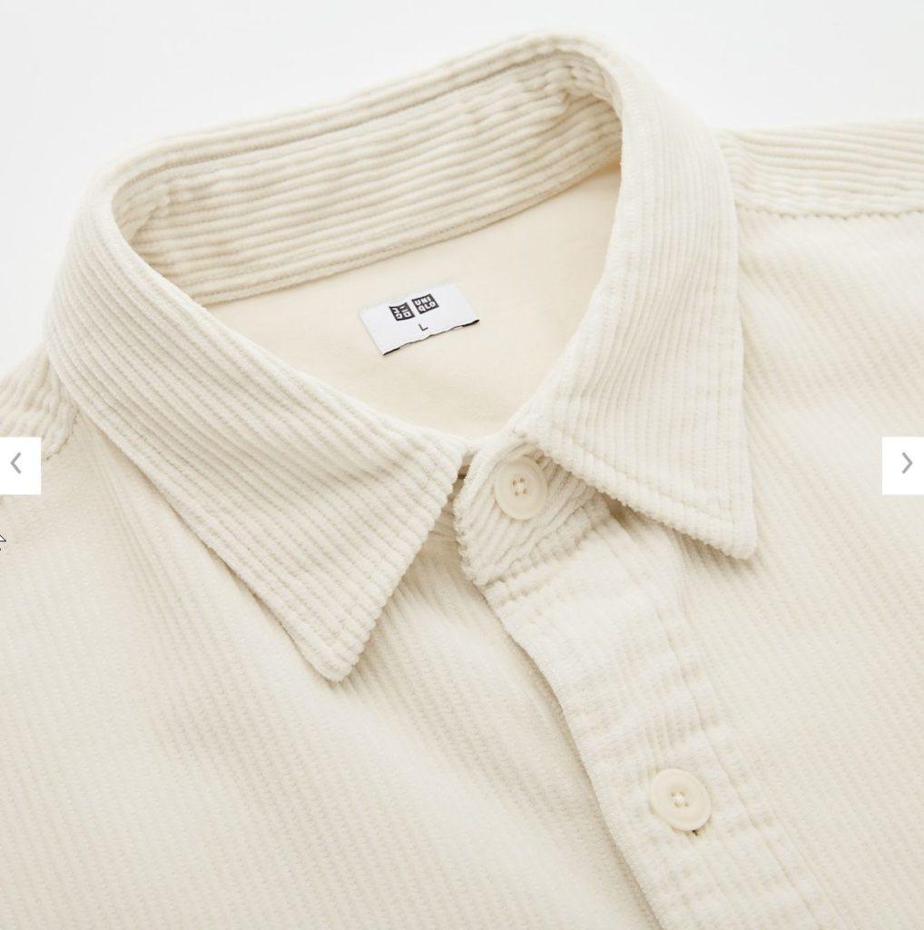 コーデュロイワークシャツ素材1
