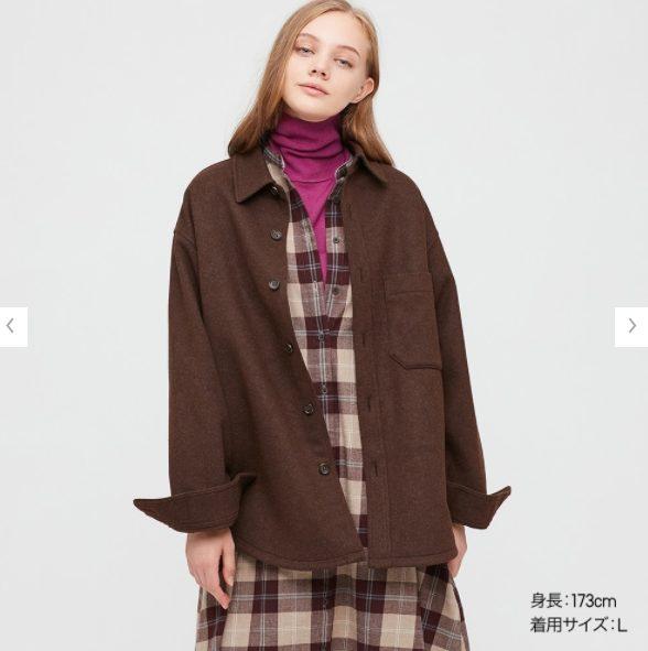 オーバーシャツジャケットのモデル