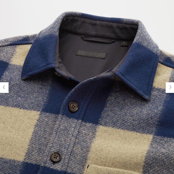 オーバーシャツジャケットの素材感1
