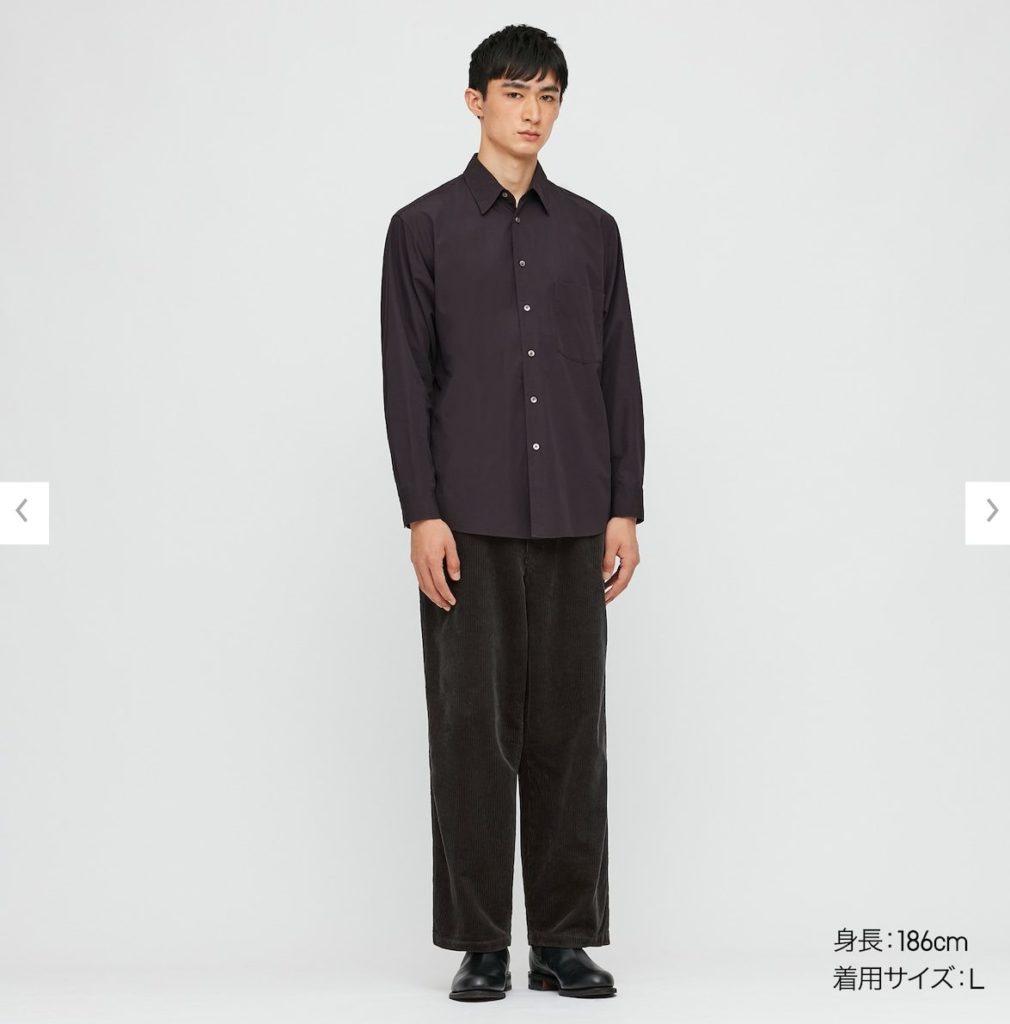 2020秋冬ブロードシャツモデル2