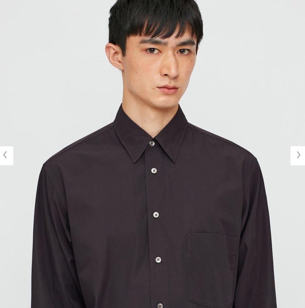 2020秋冬ブロードシャツモデル1