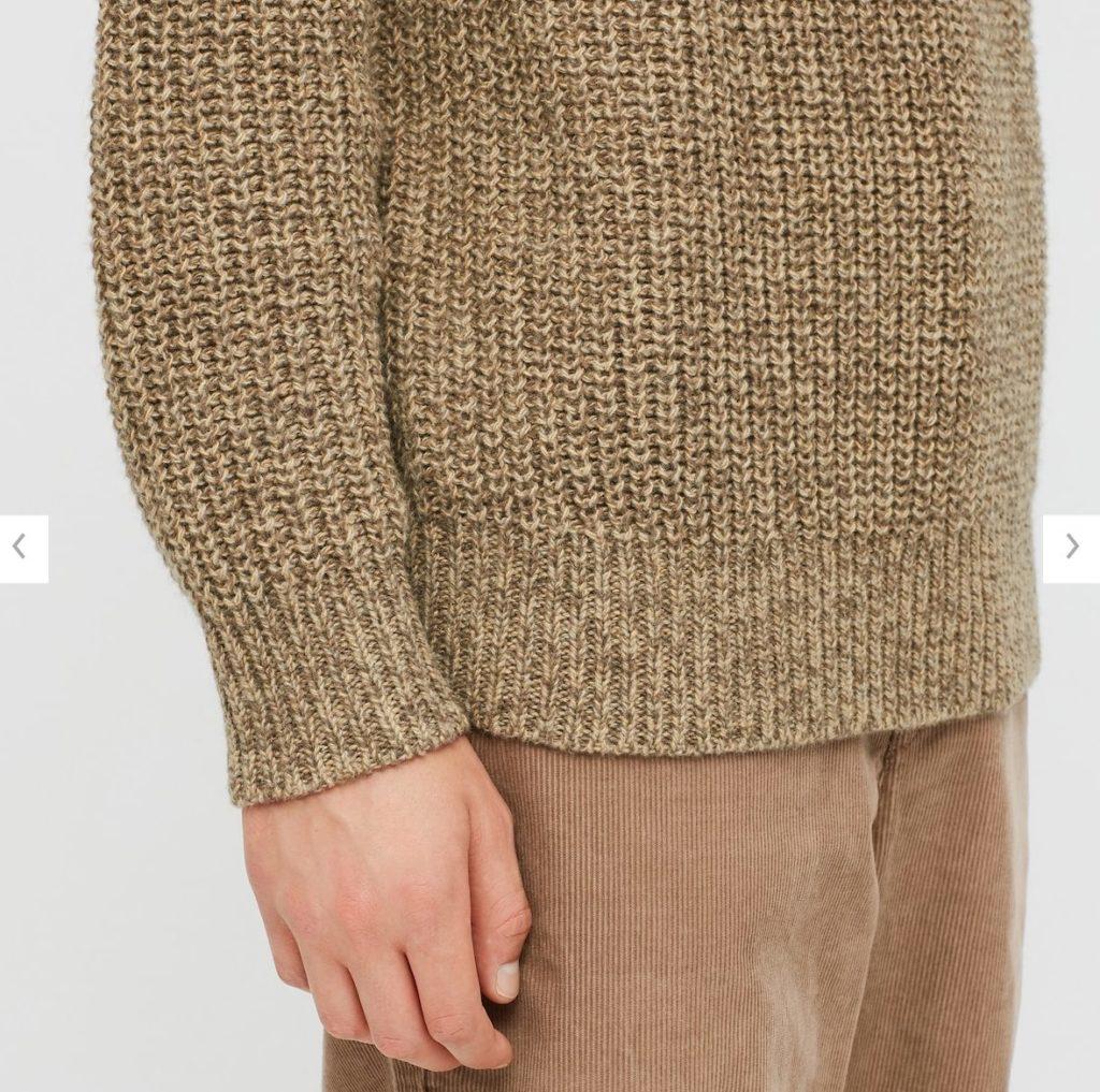 2020秋冬ライトウェイトローゲージクルーネックセーター素材1