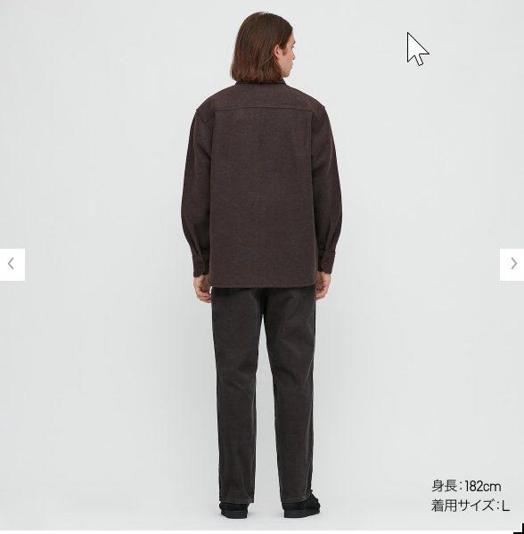 2020秋冬フリースシャツジャケットのモデル2