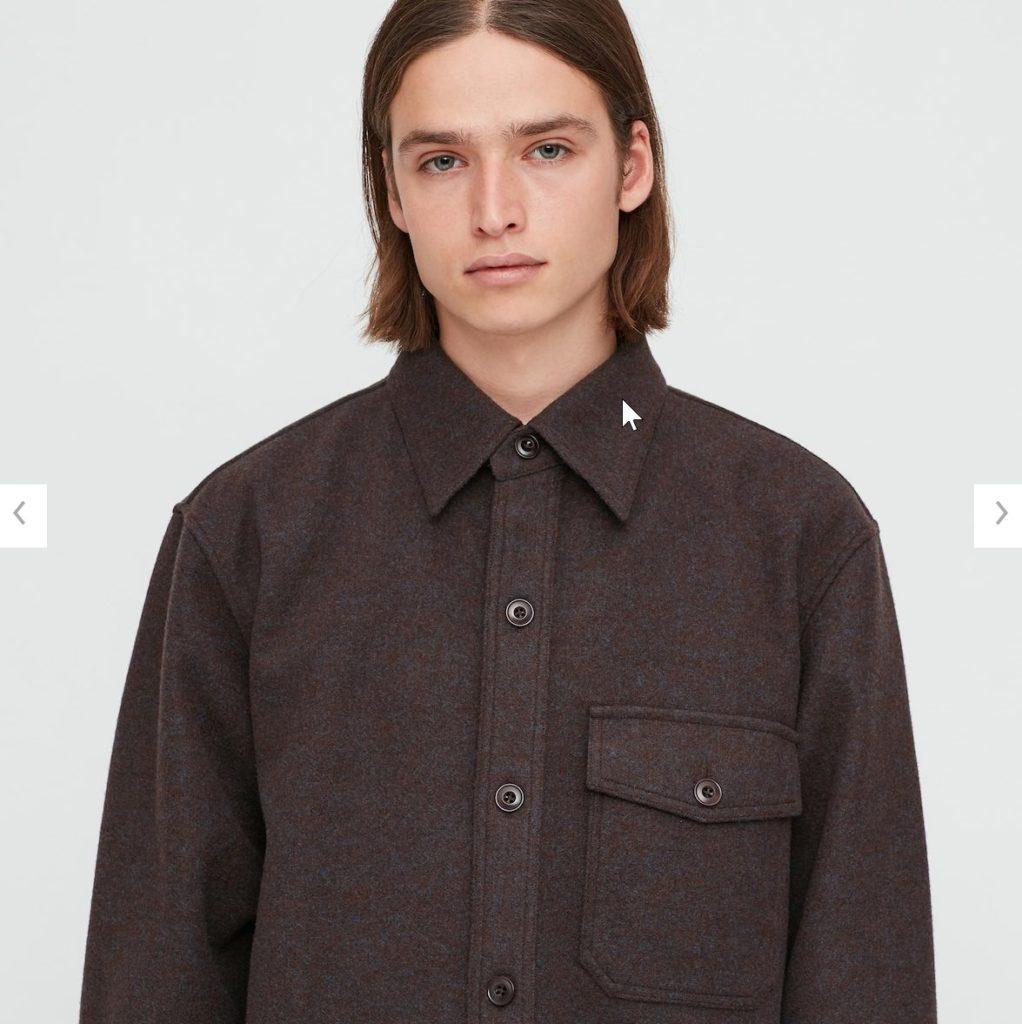 2020秋冬フリースシャツジャケットのモデル1