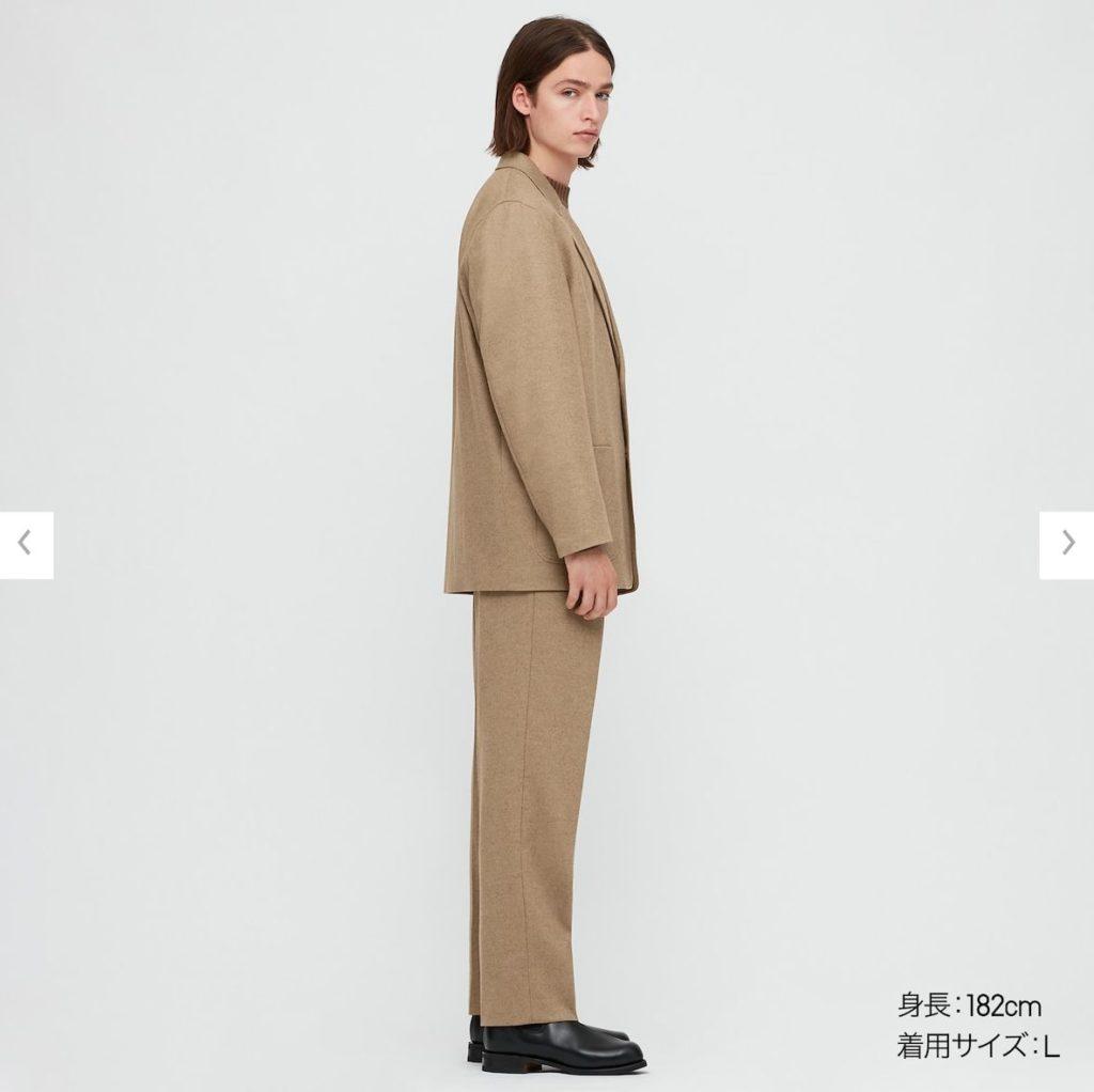 2020秋冬テーラードジャケットセットアップモデル3