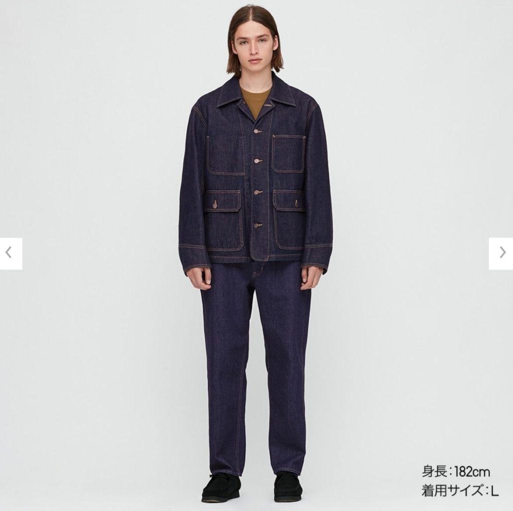 2020秋冬デニムワークジャケットのモデル2