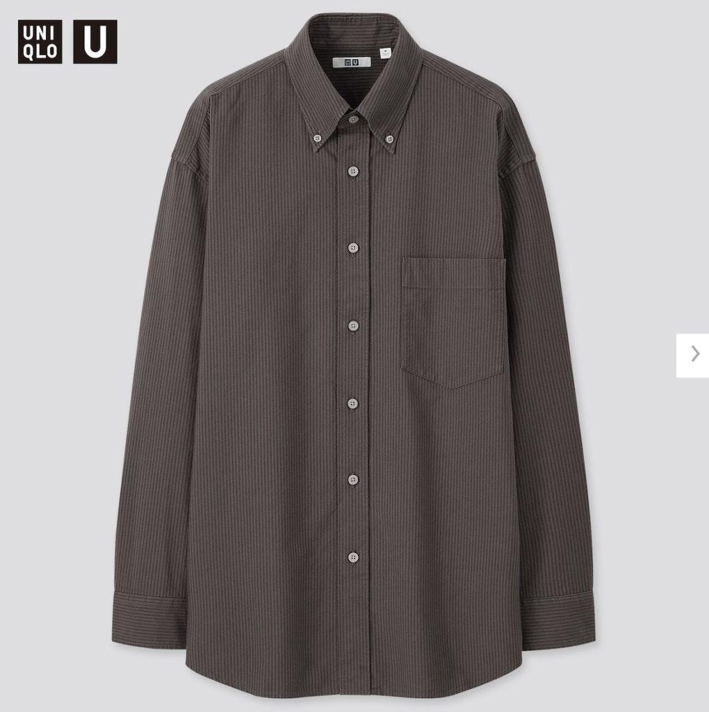 2020秋冬オックスフォードワイドフィットストライプシャツの価格