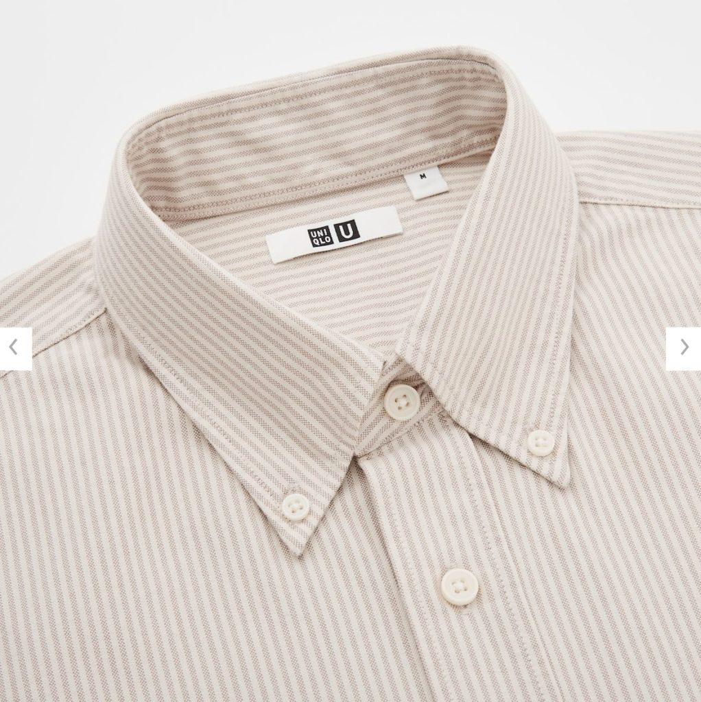 2020秋冬オックスフォードワイドフィットストライプシャツの素材1
