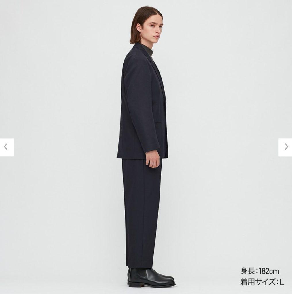 2020秋冬テーラードジャケットセットアップのモデル2