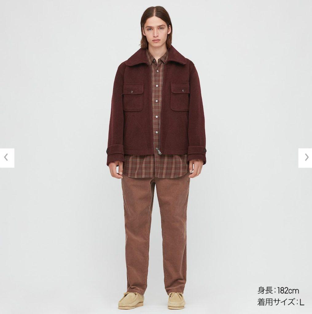 2020秋冬ウールブレンドフリースジャケットのモデル1