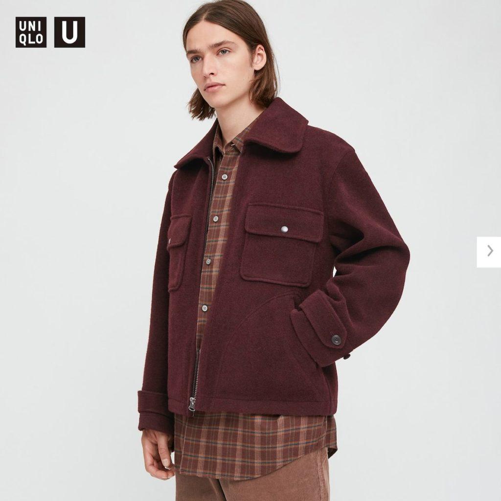 2020秋冬ウールブレンドフリースジャケットのモデル2