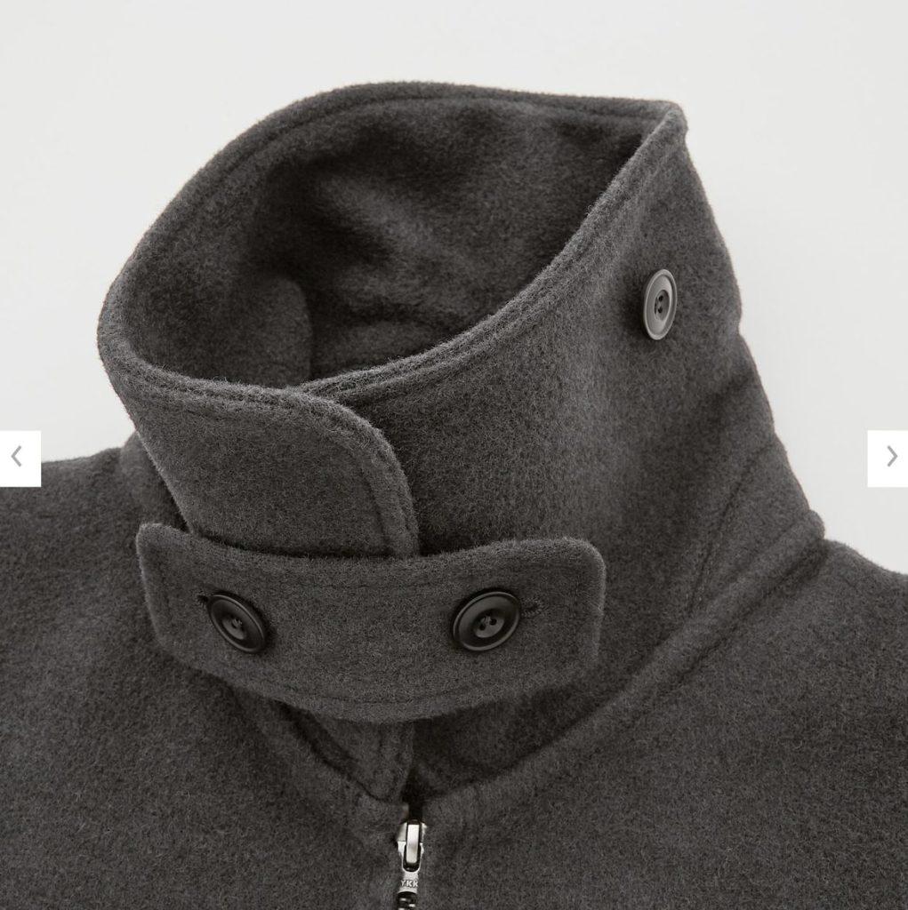 2020秋冬ウールブレンドフリースジャケットの素材1