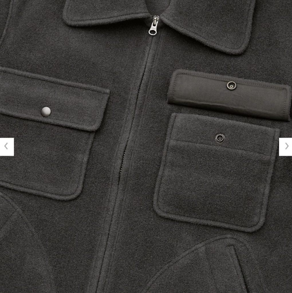 2020秋冬ウールブレンドフリースジャケットの素材2