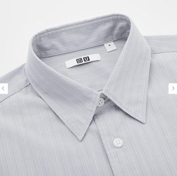 2020秋冬ブロードストライプシャツの素材1
