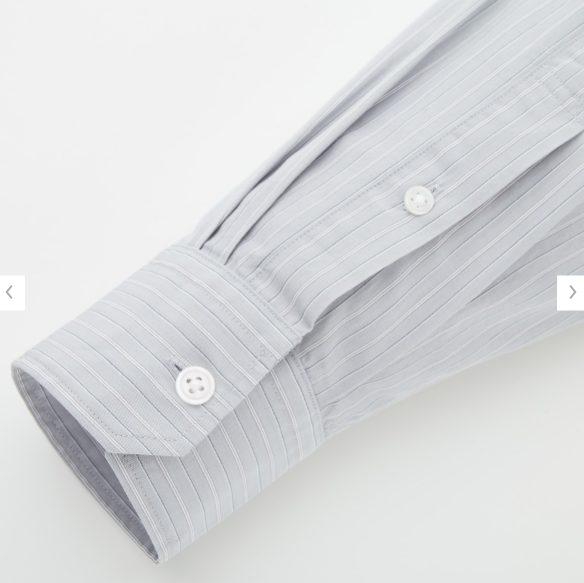 2020秋冬ブロードストライプシャツの素材2