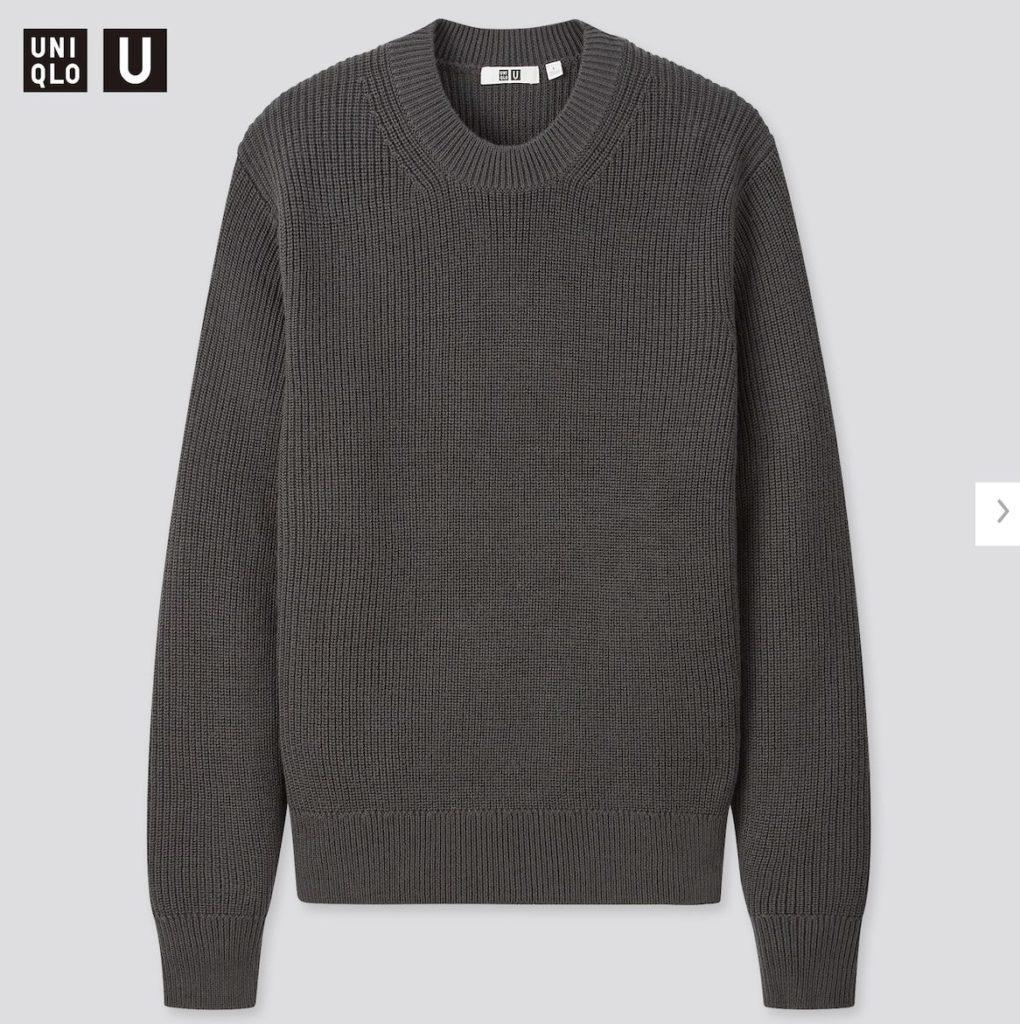 2020秋冬リブクルーネックセーターの価格