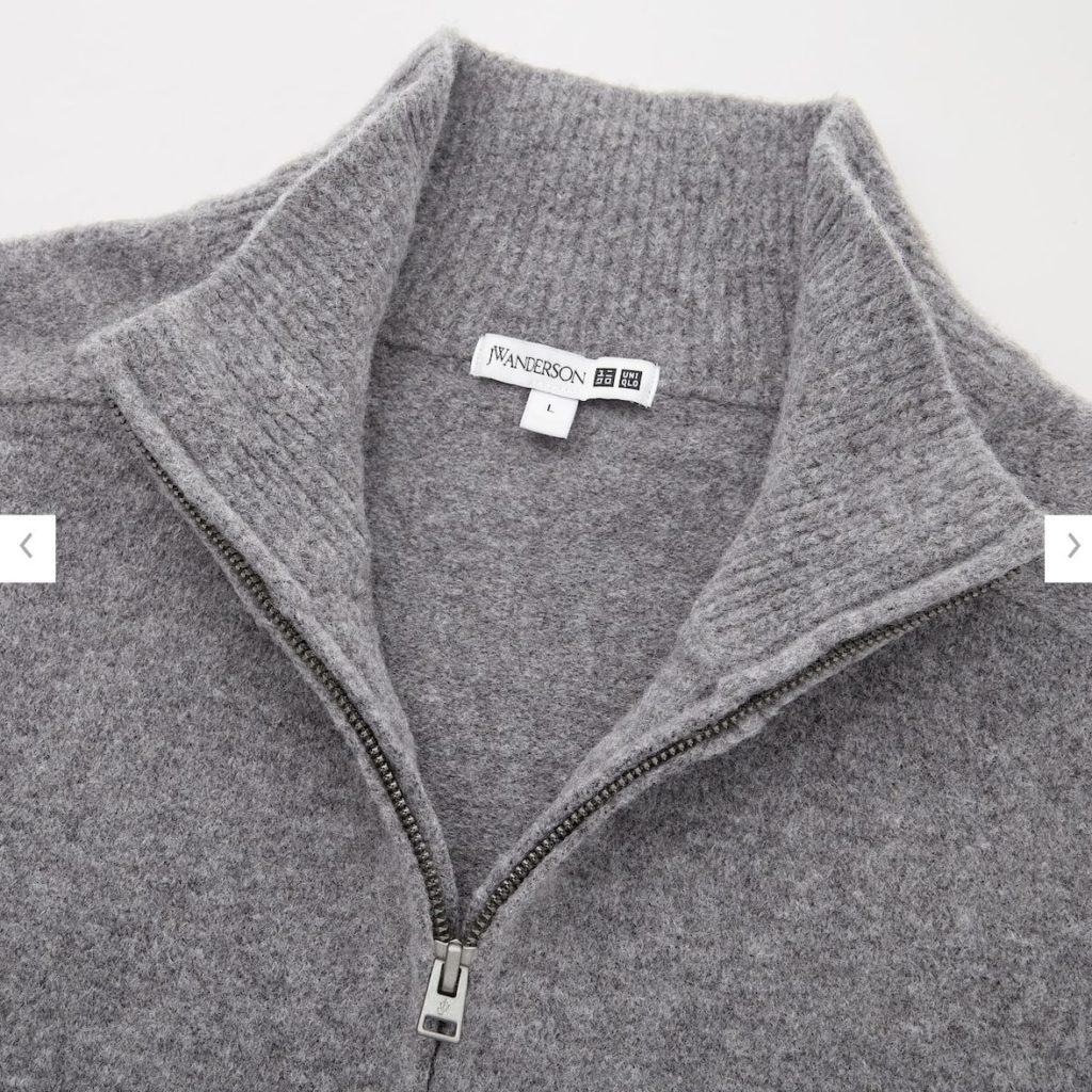 2020JWアンダーソンスフレヤーンハーフジップセーターの素材1