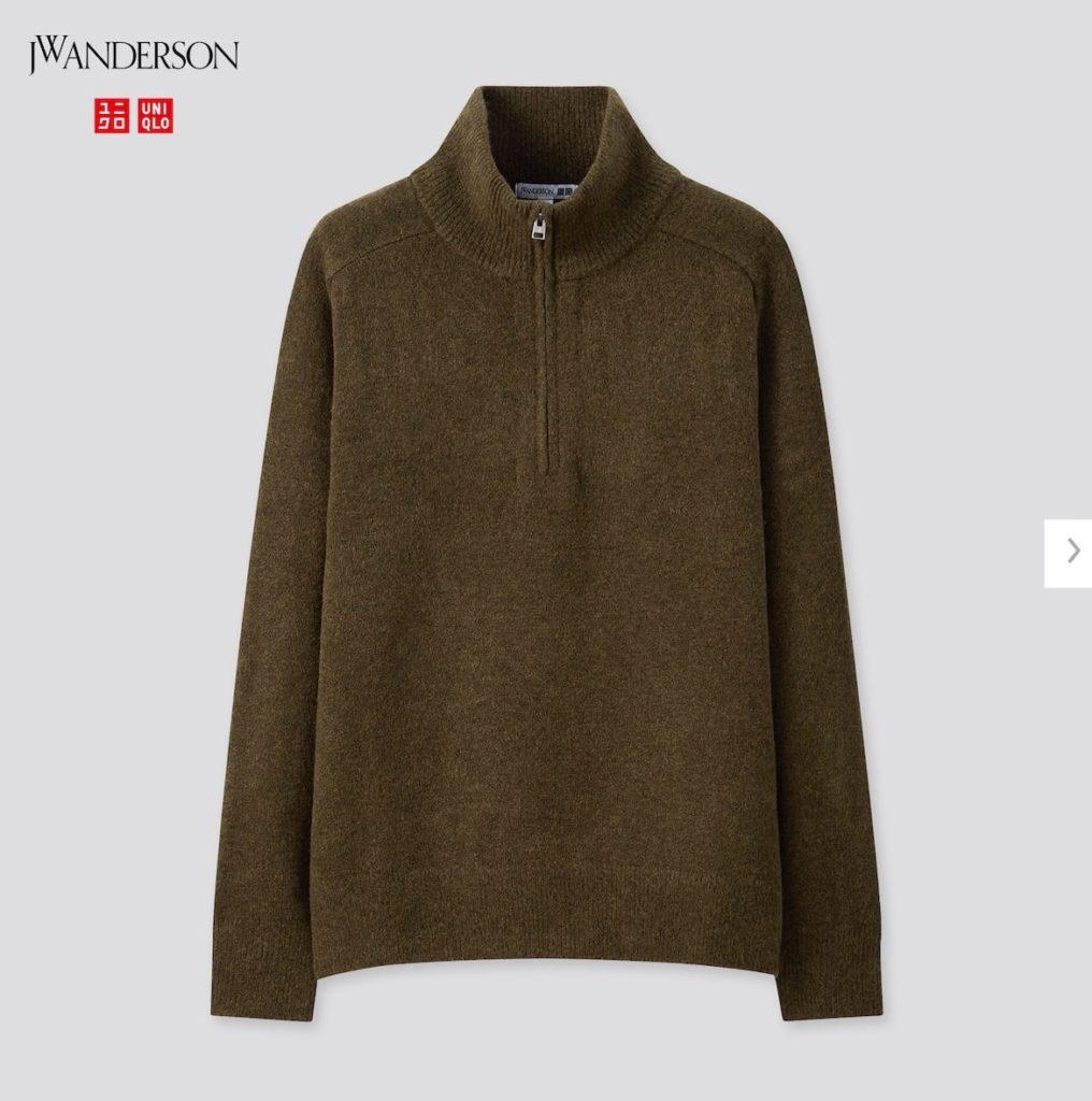 2020JWアンダーソンスフレヤーンハーフジップセーターの価格