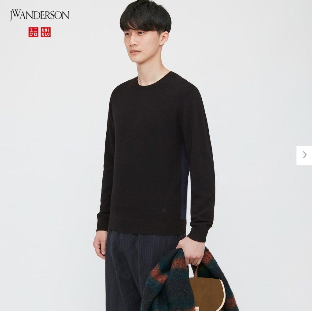 2020JWアンダーソンカシミヤクルーネックセーターのモデル1