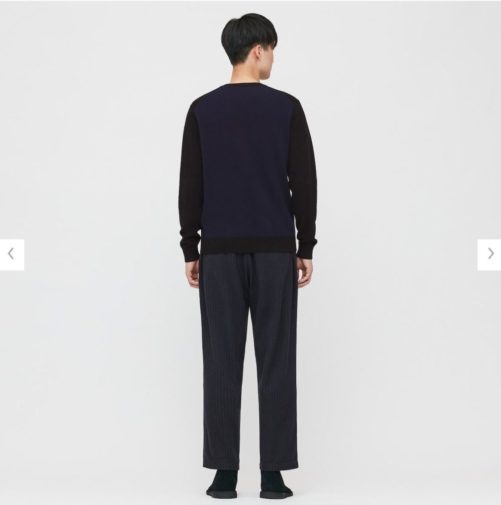 2020JWアンダーソンカシミヤクルーネックセーターのモデル2