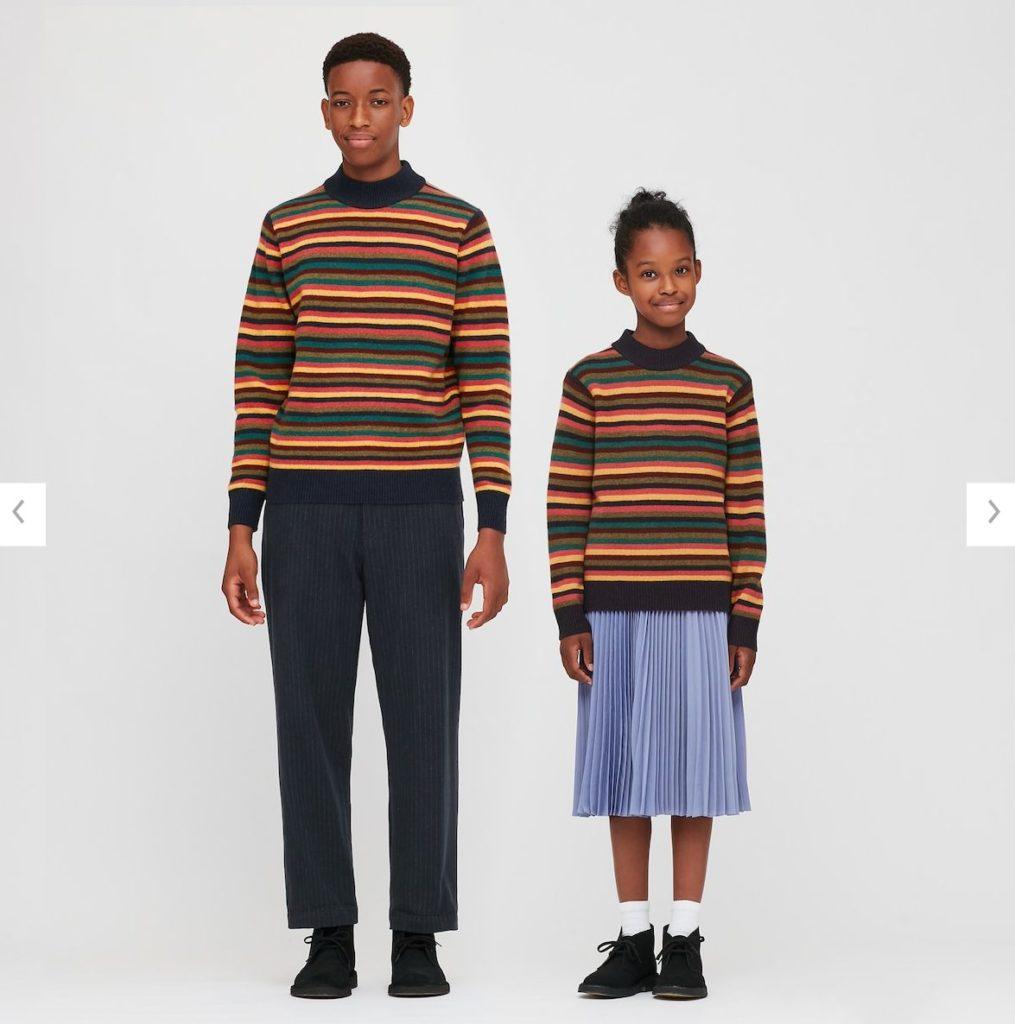 2020JWアンダーソンプレミアムラムモックネックセーターのモデル1