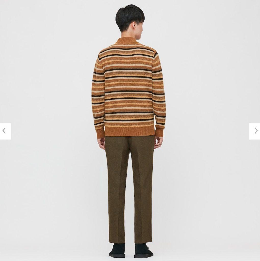2020JWアンダーソンプレミアムラムモックネックセーターのモデル2