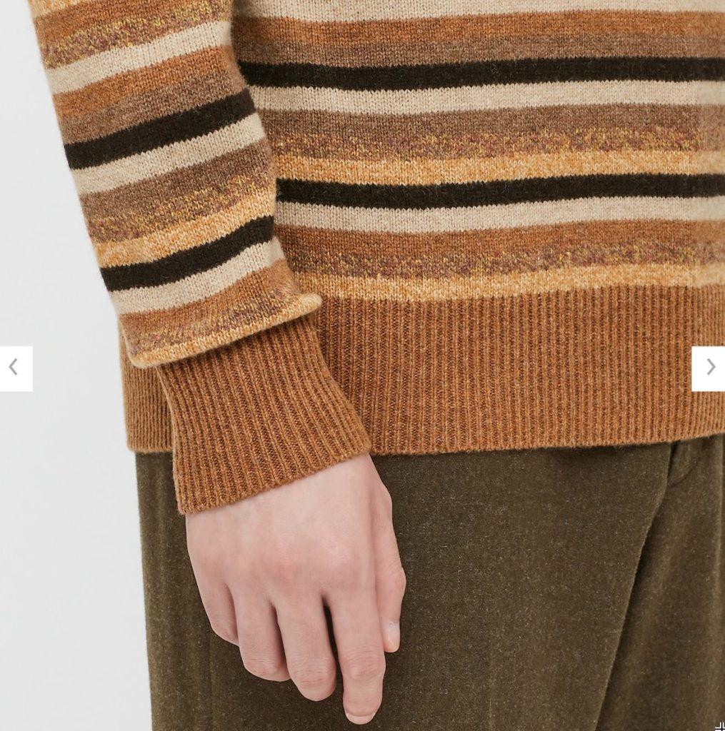 2020JWアンダーソンプレミアムラムモックネックセーターの素材1
