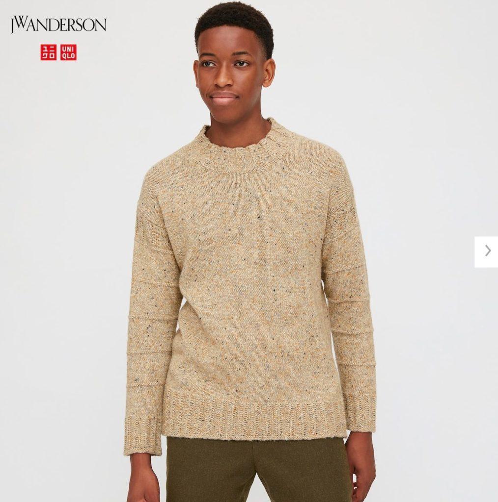 2020JWアンダーソンローゲージクルーネックセーターのモデル1