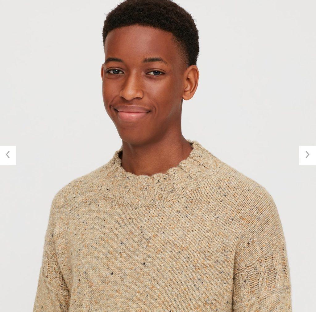 2020JWアンダーソンローゲージクルーネックセーターの素材1