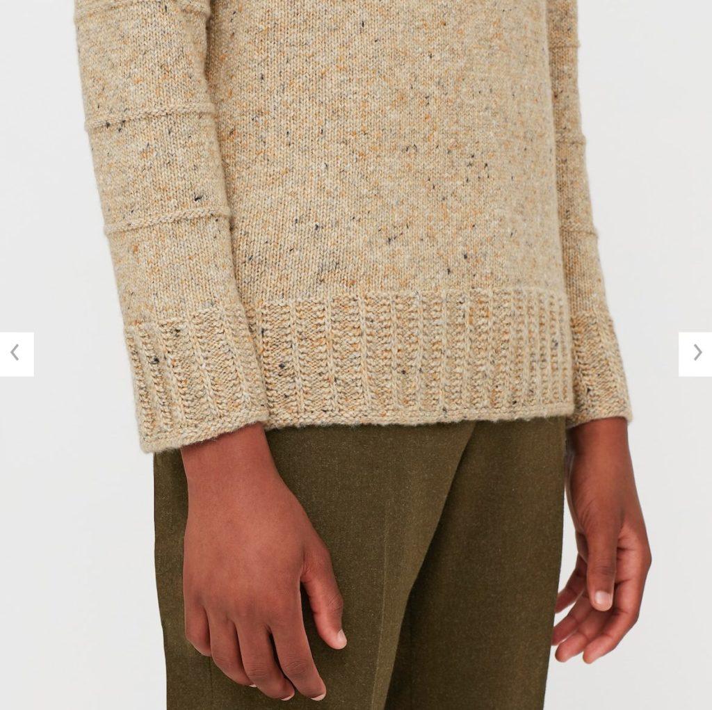 2020JWアンダーソンローゲージクルーネックセーターの素材2