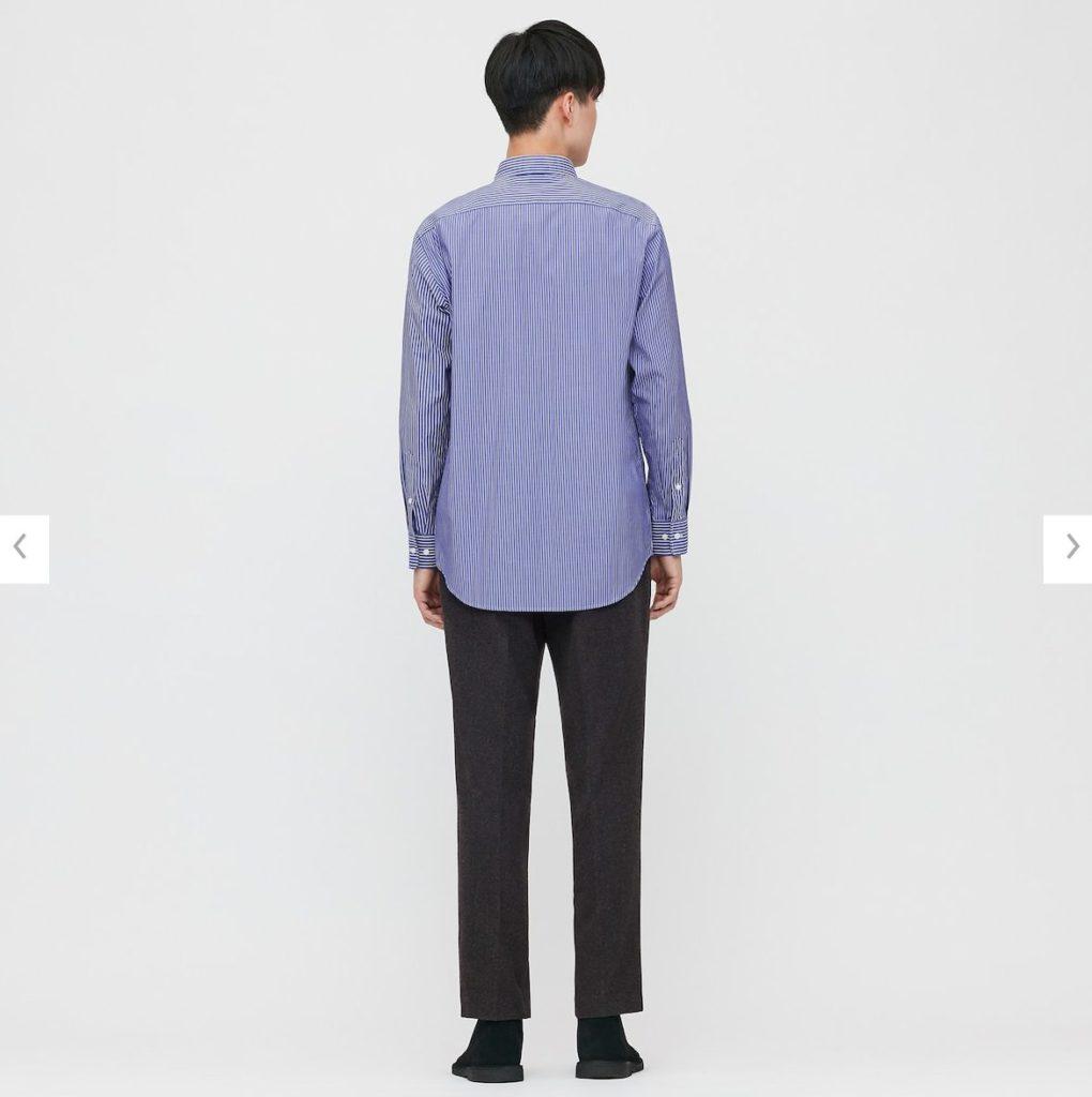 2020JWアンダーソンファインクロスストライプシャツのモデル2