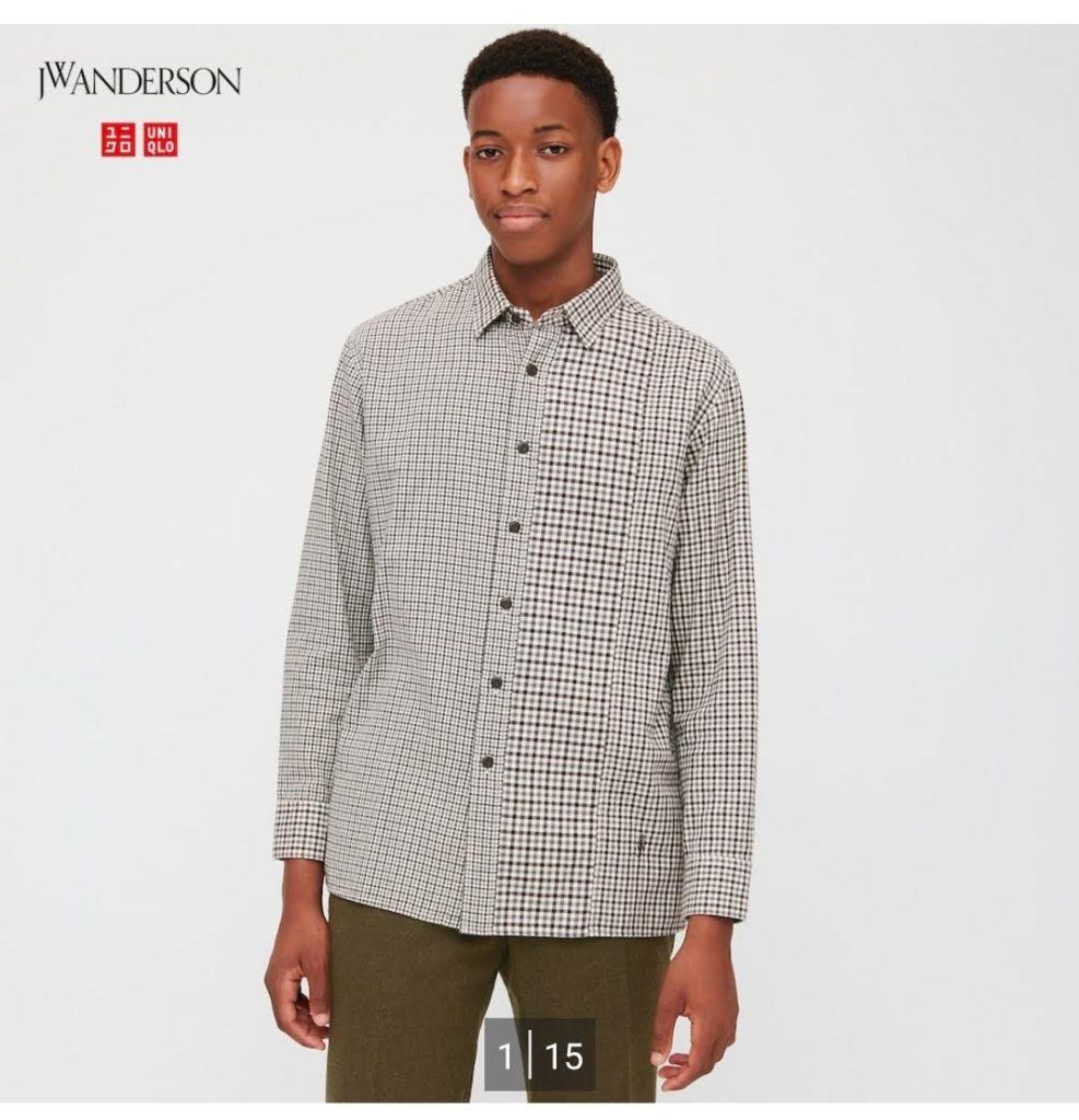 2020JWアンダーソンのフランネルチェックシャツ