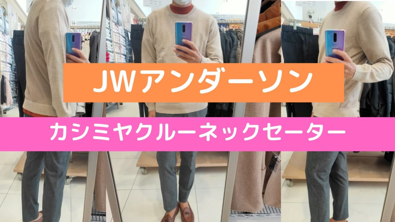 2020JWアンダーソンカシミヤクルーネックセーターのアイキャッチ画像