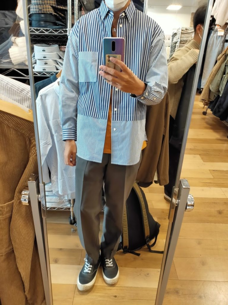 +Jスーピマコットン オーバーサイズシャツの66ブルーS前