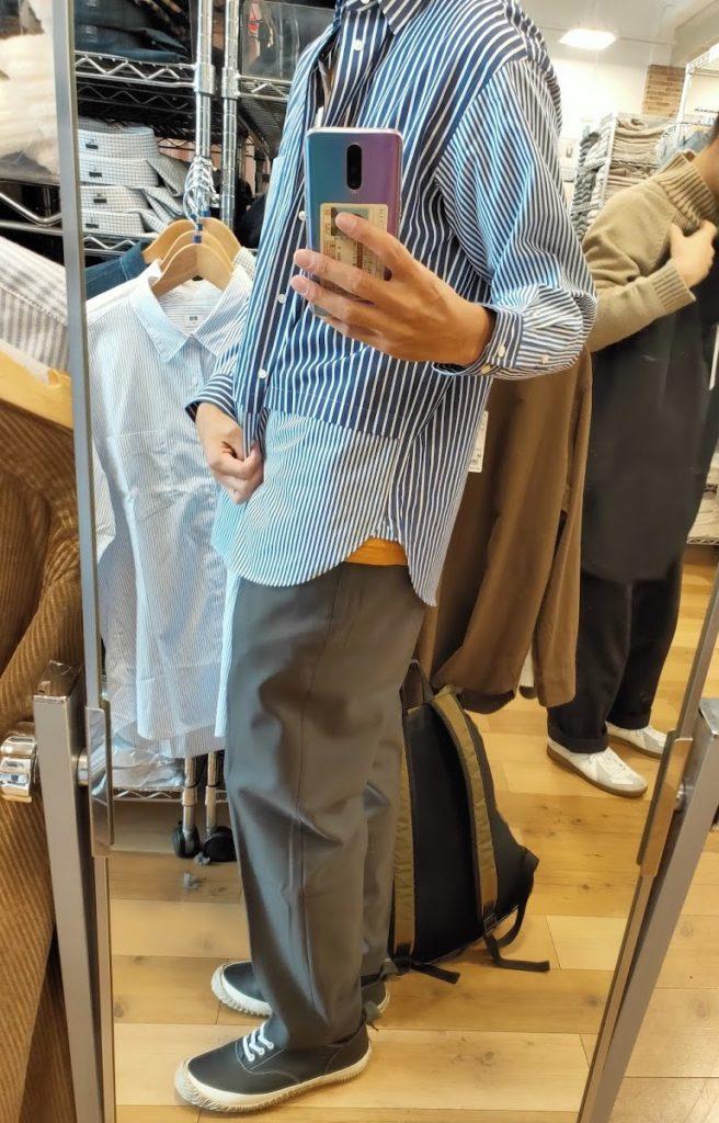 +Jスーピマコットン オーバーサイズシャツの66ブルーS横