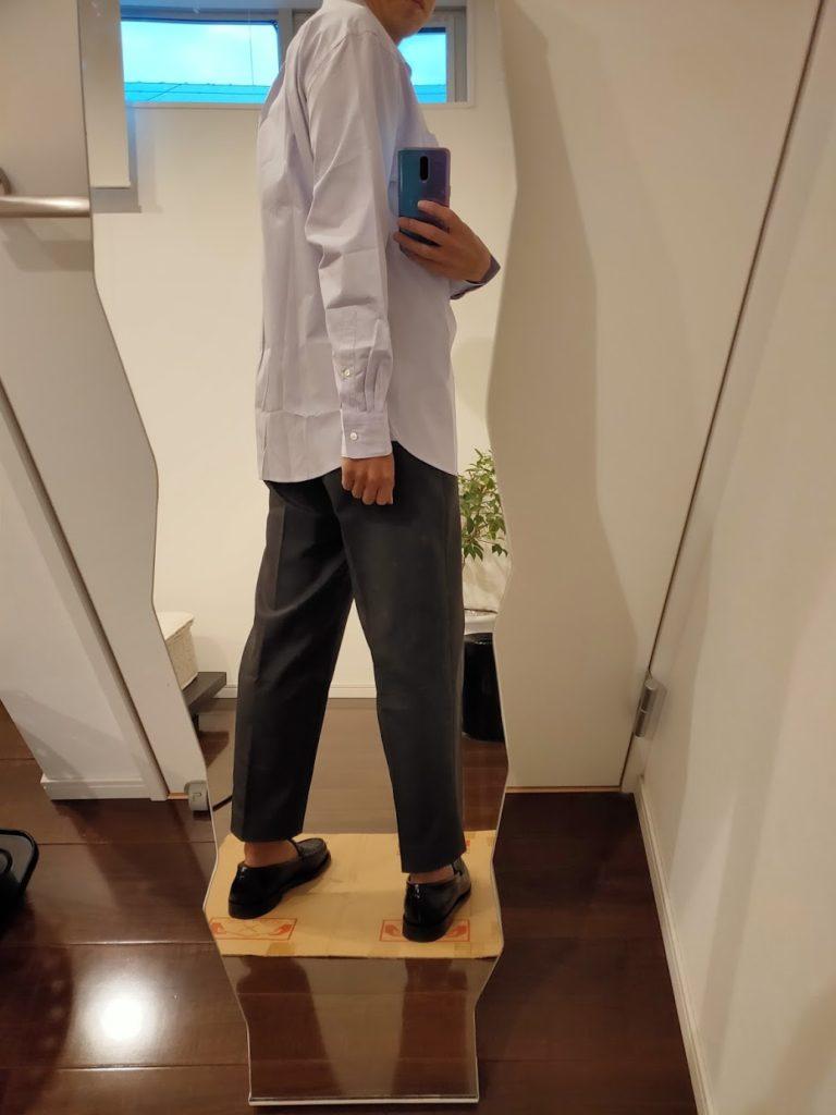 +JスーピマコットンレギュラーフィットシャツのL後ろ