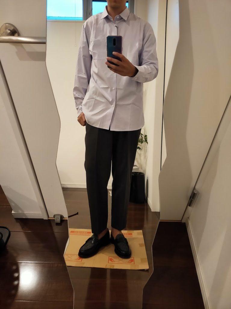 +JスーピマコットンレギュラーフィットシャツのL前2