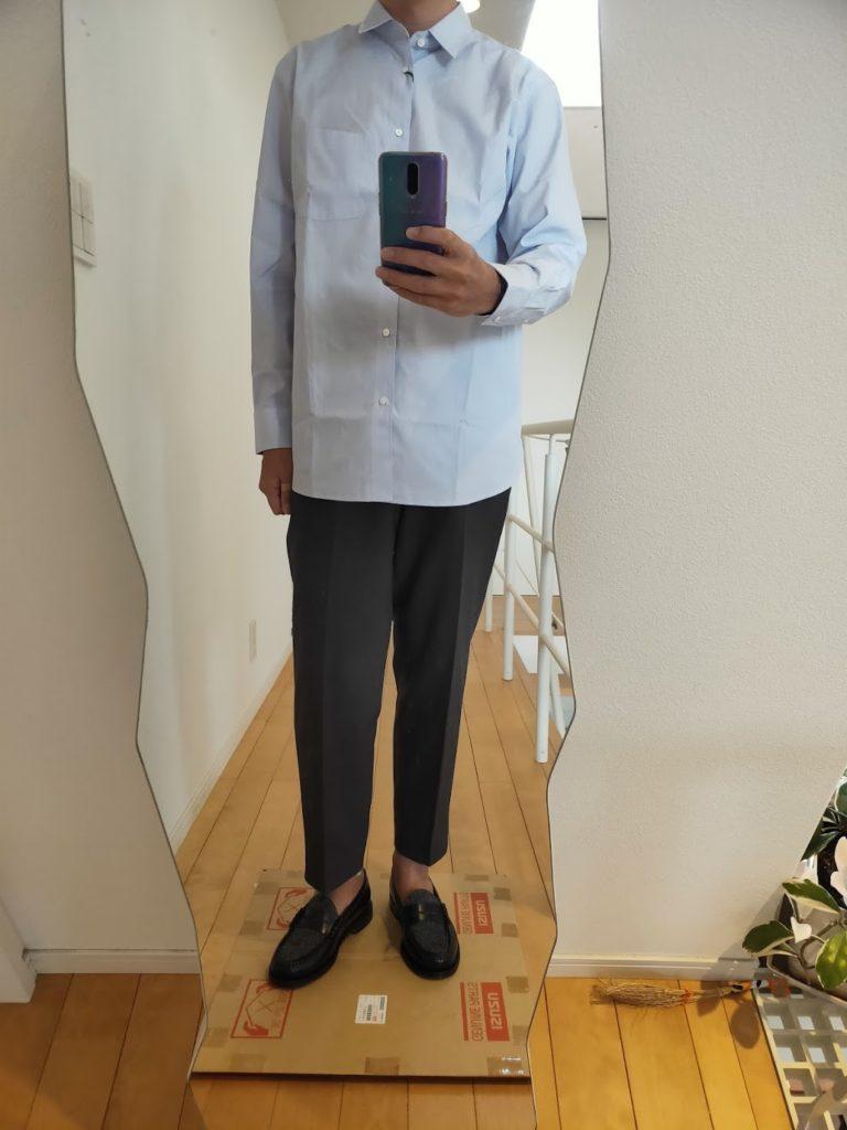 +JスーピマコットンレギュラーフィットシャツのM前