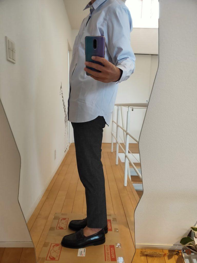 +JスーピマコットンレギュラーフィットシャツのMスラックス横