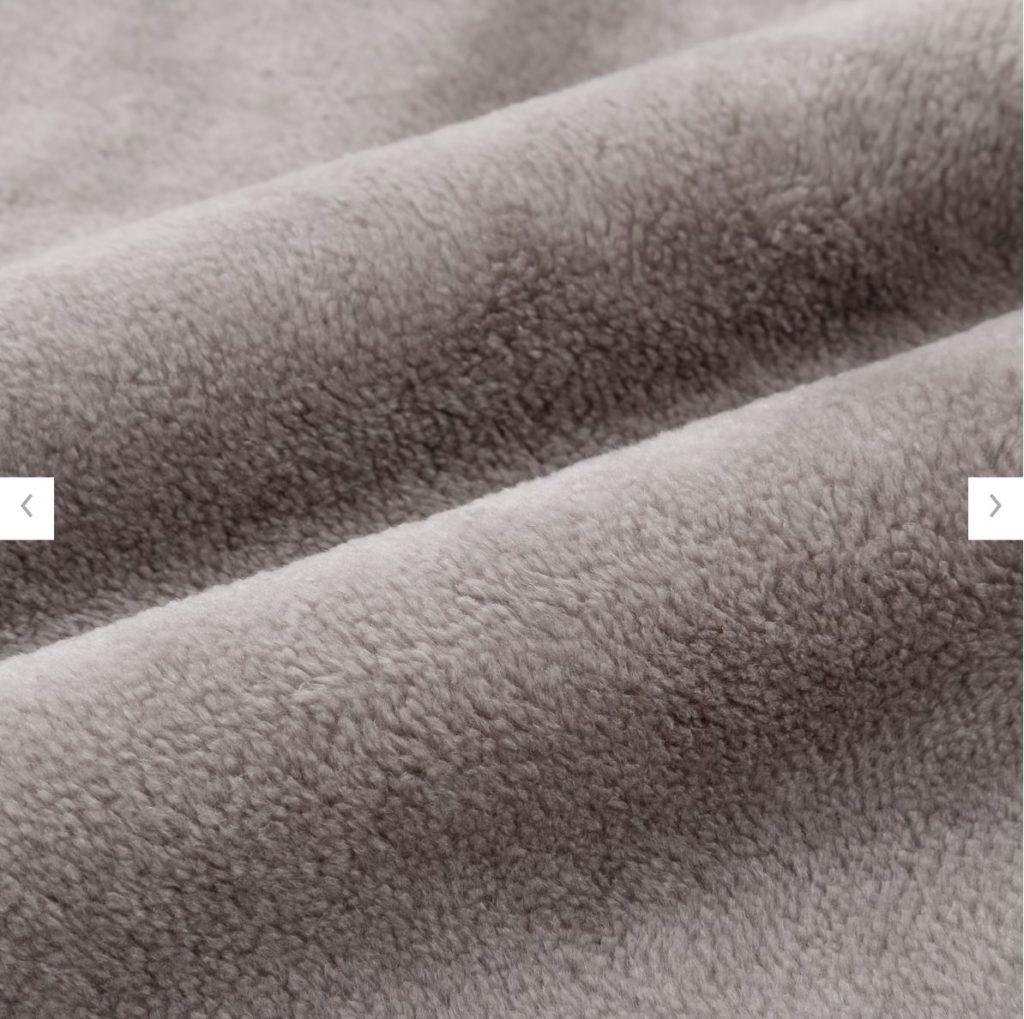 ヒートテック毛布の素材詳細