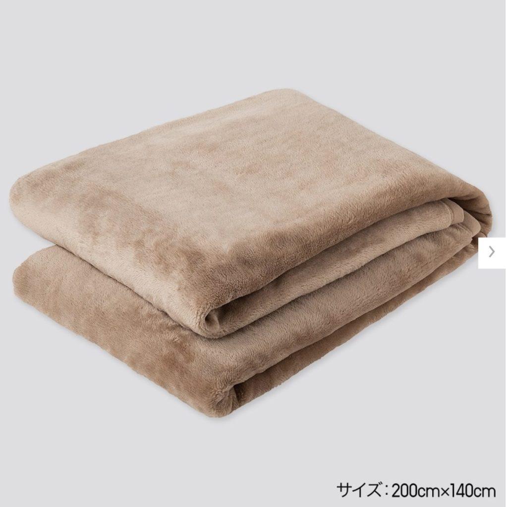 ヒートテック毛布のダブルの画像